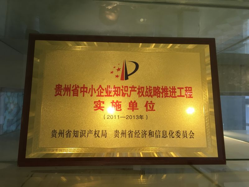 The implementation unit of intellectual property strategy for small and medium-sized enterprises in guizhou province.